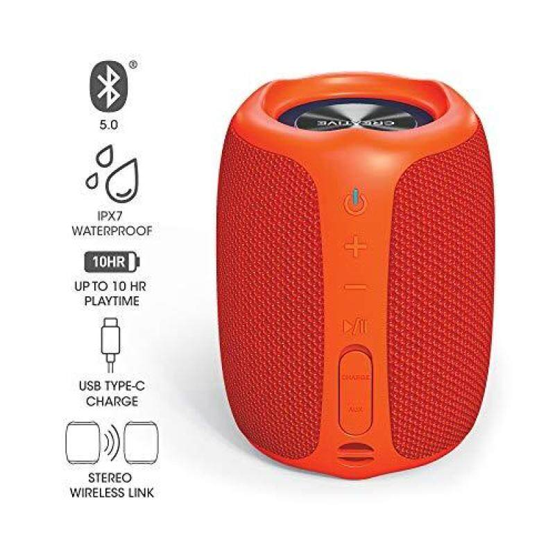 Creative MUVO Play Orange Up to about 10 hours continuous playback battery equipped IPX7 waterproof USB Type-C Powerful portable wireless stereo speaker with low bass SP-MVPL-OR Singapore