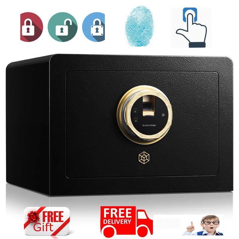 New Fingerprint Home Hotel Office Safe Safety Deposit Box Alam Wall