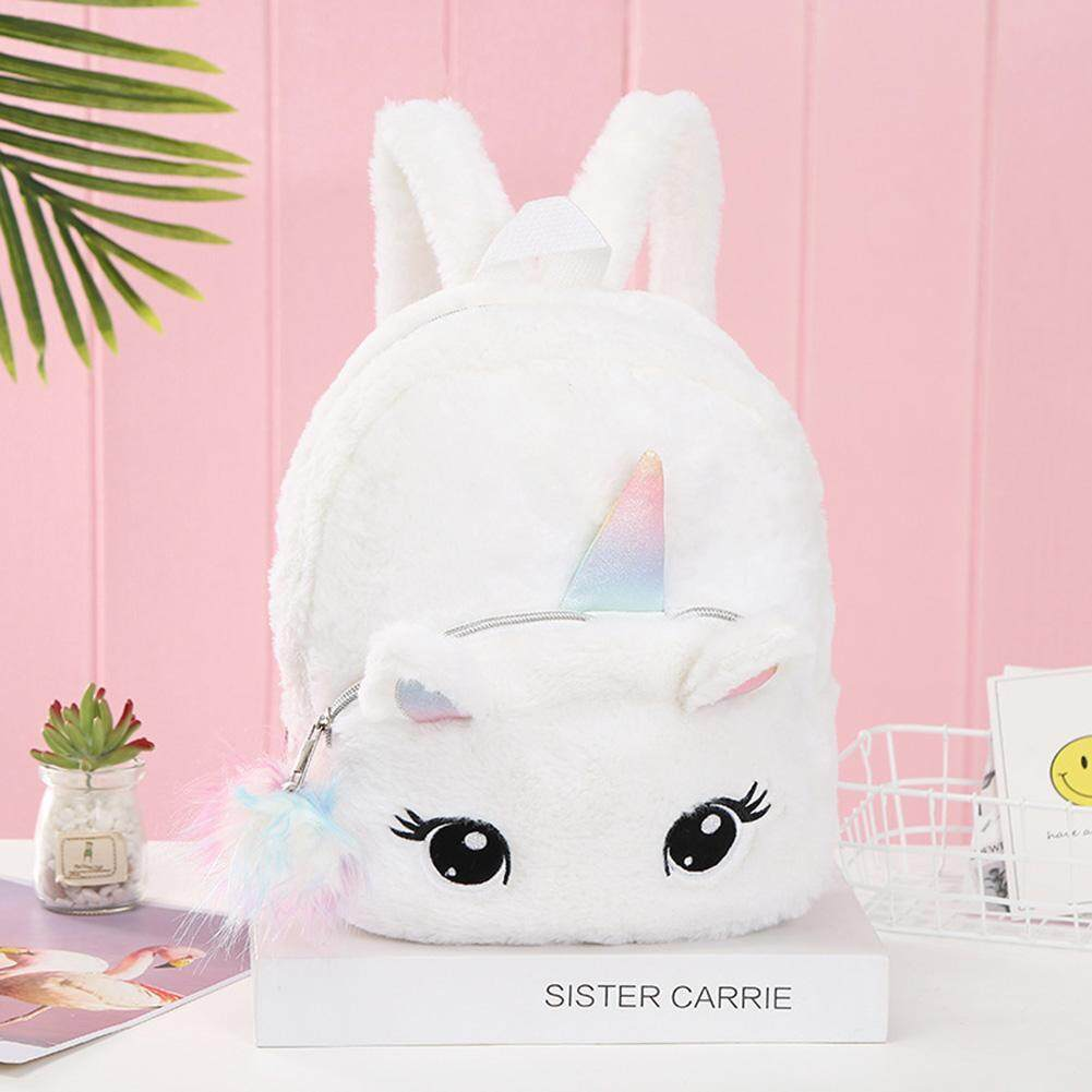 Women Kids Cartoon Unicorn Plush Backpack Money Phone Holder Bag Stylish