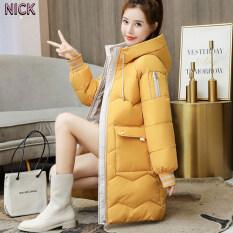 Áo Khoác Cotton Dài Vừa Phải NICK Cho Nữ Áo Khoác Thu Đông Kiểu Hàn Quốc