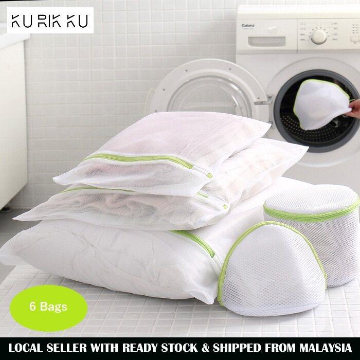 Máy Giặt 6 Trong 1 Túi Giặt Quần Áo Giặt Màng Lưới Túi Xách Có Thể Giặt Được