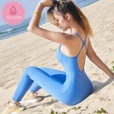 Bộ Đồ Thể Thao OzalCtree Đồ Thể Thao Cho Nữ, Bộ Đồ Liền Thân Tập Thể Dục Thể Thao Bộ Yoga Tập Gym Luyện Tập Chạy