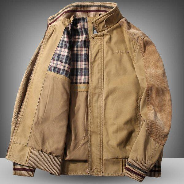 High Quality Jacket MenS 96% Cotton Spring Autumn Loose Large Size Jacket Middle Aged MenS Casual Wear Winter Clothes