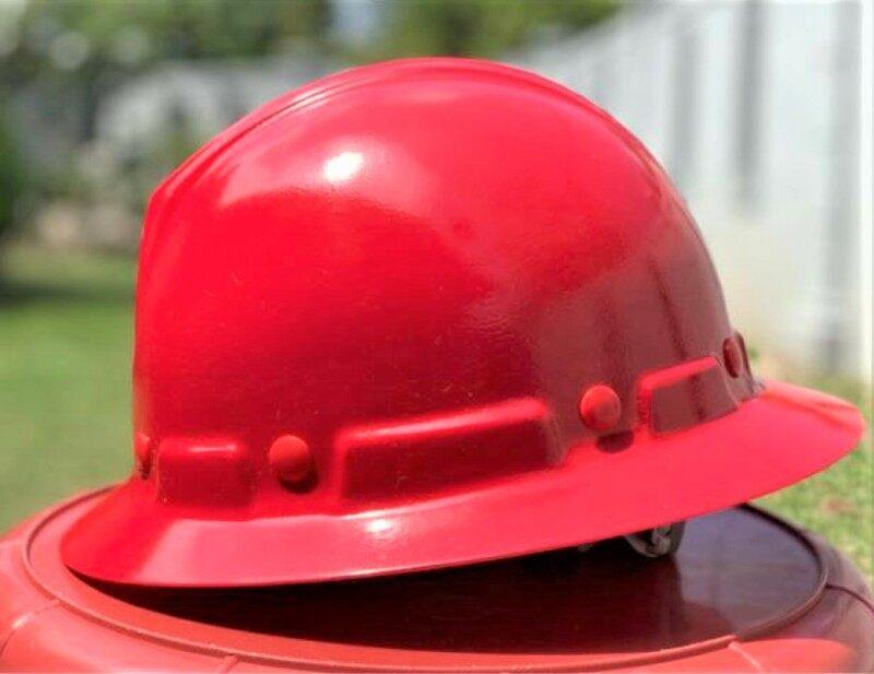 Tanizawa 177 Safety Helmet FULL BRIM Fibre Glass Topi Kerja Site Keselamatan Lelaki Perempuan RED