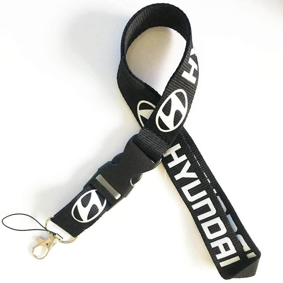 Keyring Keychains Cell Phone Cord ID Card Auto Car Logo Neck Strap Lanyard Hyundai