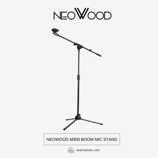 NEOWOOD M300 BOOM MICROPHONE STAND (TRIPOD STAND FOR MIC/ PORTABLE STANDS/ RECORDING EQUIPMENT) Malaysia