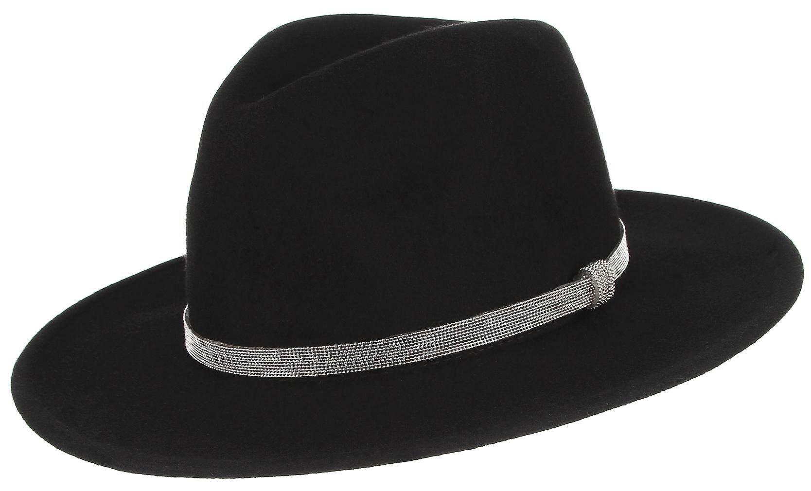 2a55dc4a6 Men's British Chain Decoration 100% Pure Wool Hat Fedora Hats Wide Brim  Trilby Hat