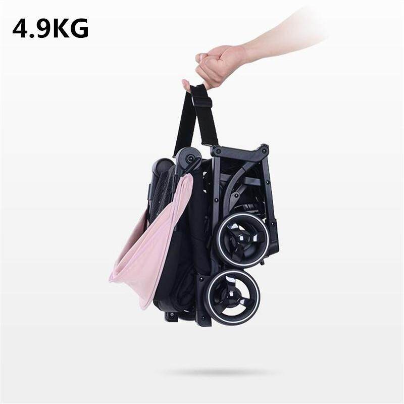 Luxury Pocket 4.9kg Baby Stroller Light Folding Umbrella Pram Portable On The Airplane Kinderwagen Singapore