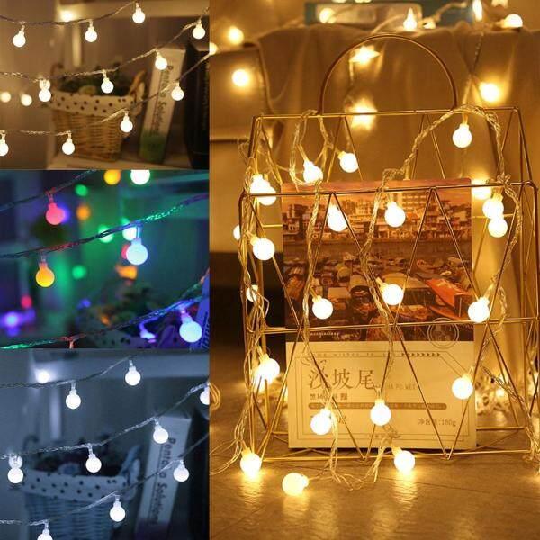Bảng giá Openmall Dây Đèn LED 1.5M/3M Với Quả Bóng Trắng Đèn Vòng Hoa Cổ Tích, Đèn Trang Trí Tiệc Vườn Nhà