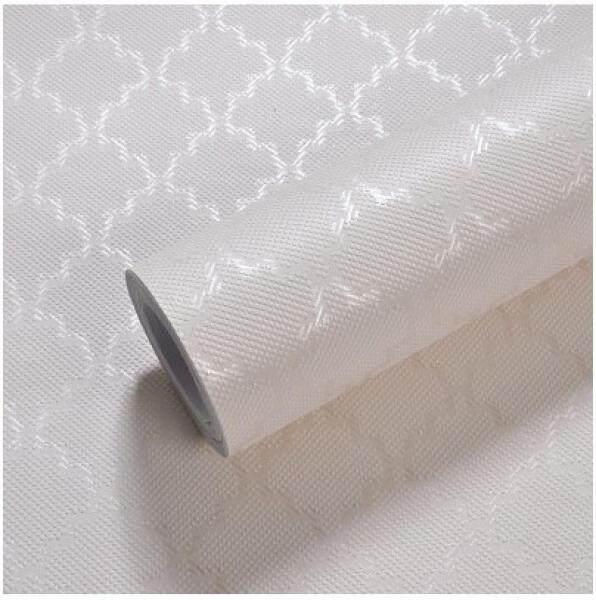 Wallpaper self-adhesive paper simple 3d wall stickers living room bedroom background wall diamond lattice DIY gray 53cm*3m