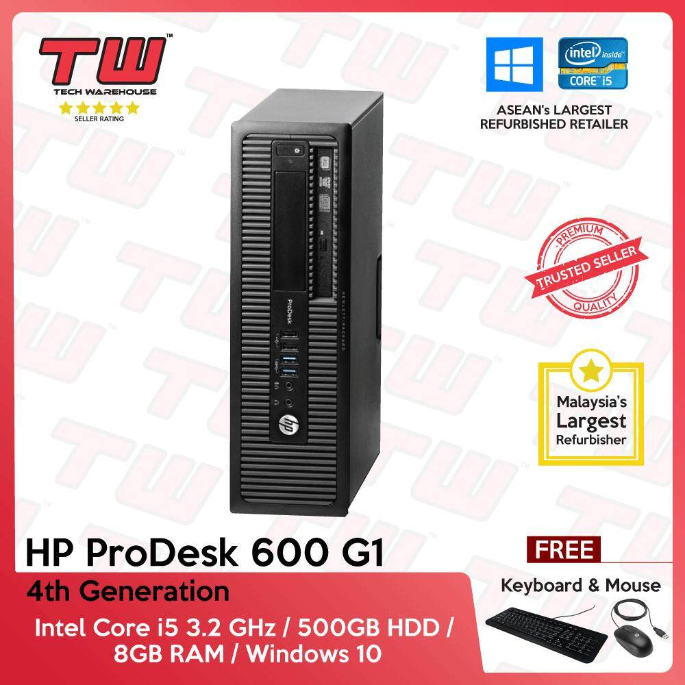 Hp Prodesk 600 G1 Core I5 4th Generation / 8gb Ram / 500gb Hdd / Windows 10 Home (sff) Desktop Pc / 3 Months Warranty (factory Refurbished) By Tech Warehouse.