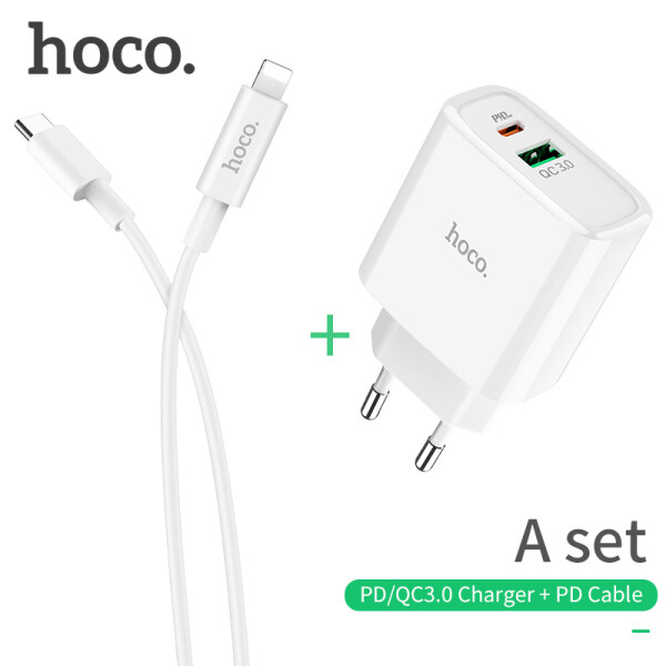 Hoco QC3.0 / PD Sạc Nhanh Sạc 18W Đa Gắn Tường USB Bộ Sạc Sạc Nhanh Sạc Điện Thoại Du Lịch Với Loại C PD Cáp Cho iPhone Samsung Xiaomi Huawei Realme