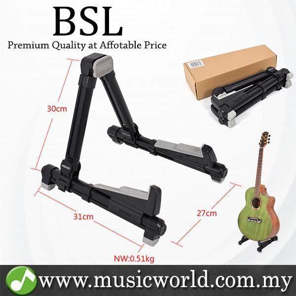 BSL A-20 Foldable Guitar Stand A Frame Folding Universal For Guitar Bass Violin Banjo Mandolin Electric (Black) Malaysia