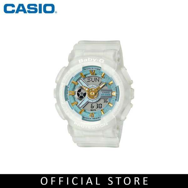 Casio Baby-G BA-110SC-7A White Matte Resin Band Women Sports Watch Malaysia