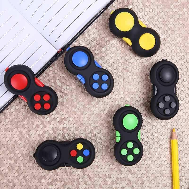 1pc เกมลูกเต๋าสำหรับผ่อนคลายความเครียด Reliever บีบสนุก Magic ของเล่นจับของเล่นความเครียด Rainbow แปลกปริศนารูป.