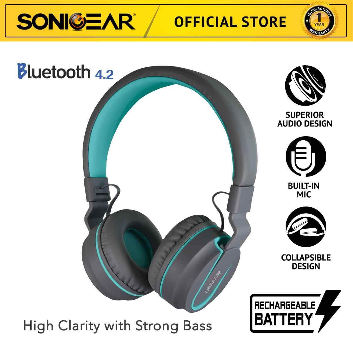 SonicGear AirPhone V High Performance Bluetooth Headphones For Smartphones and Tablets