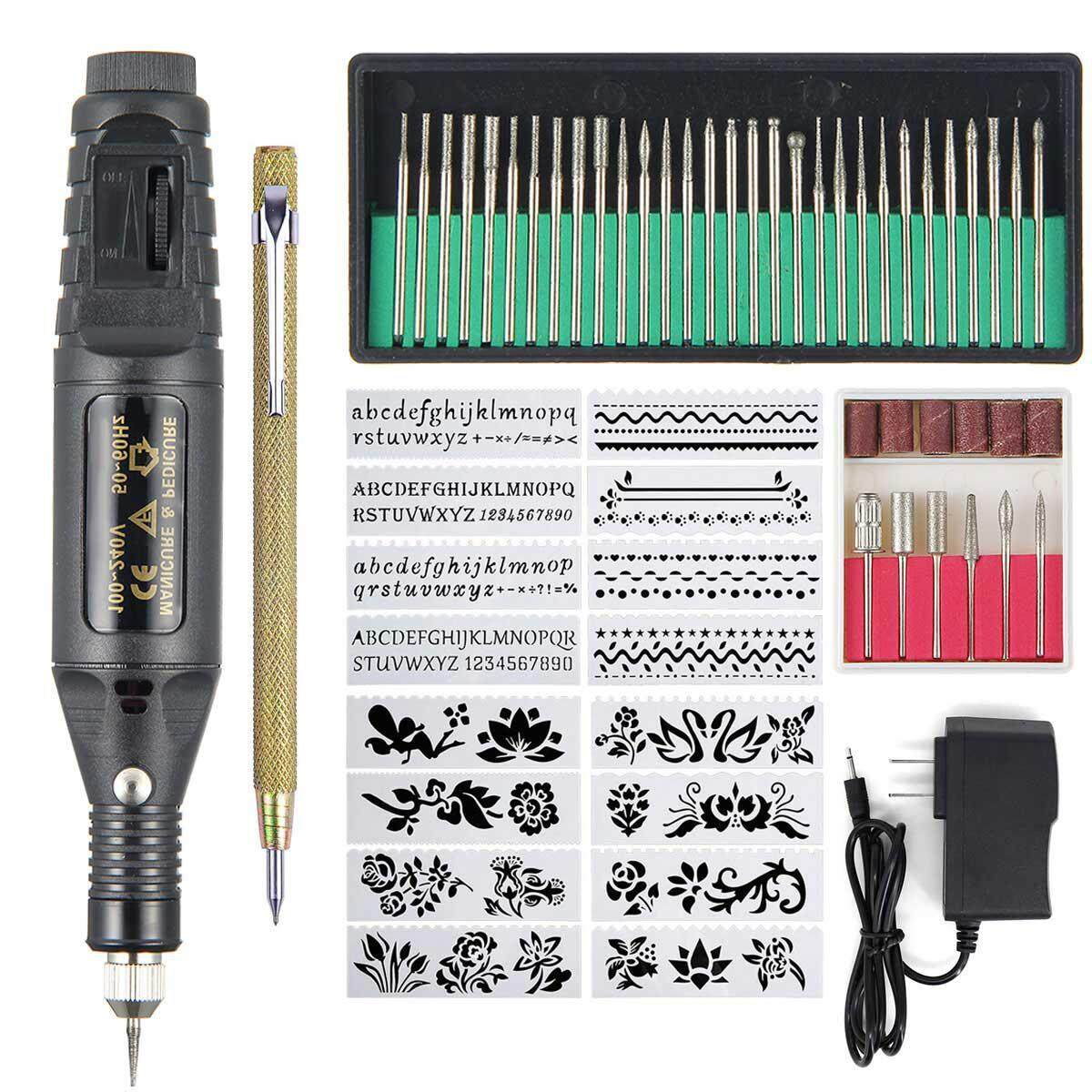 Engraving Tool Kit Multi-Functional Electric Corded Engraver Pen DIY Rotary Tool