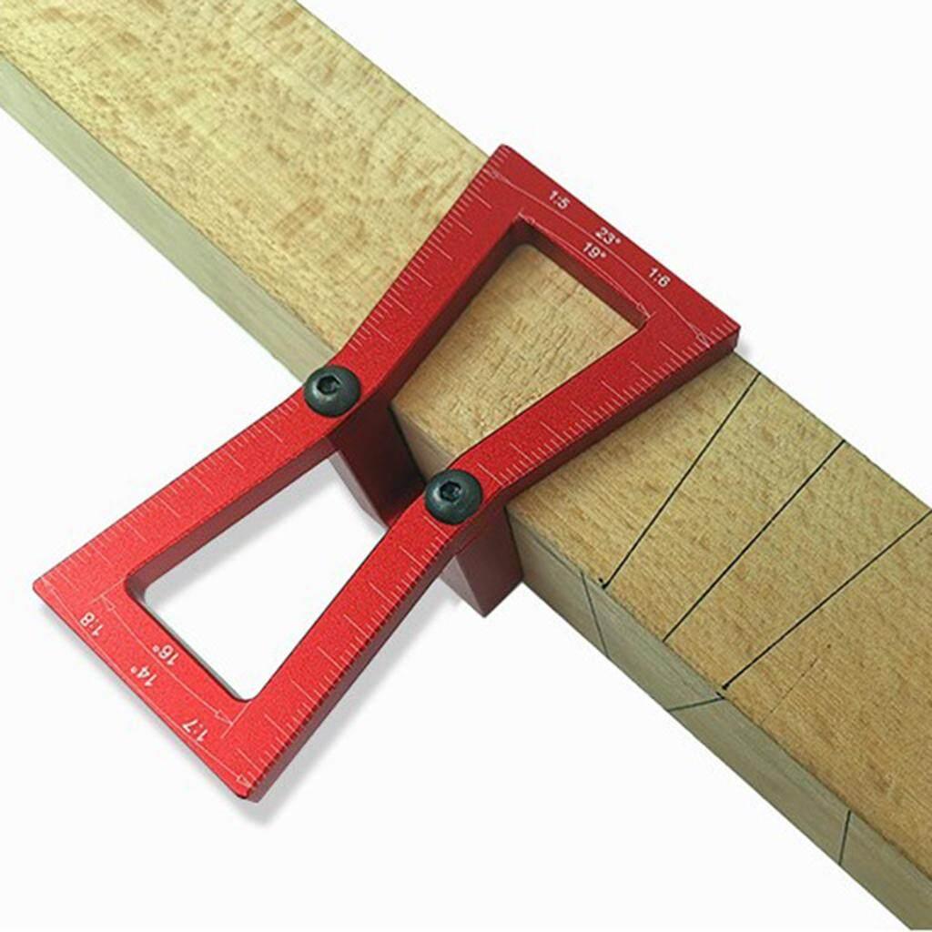 BolehDeals Aluminum Dovetail Marker Guide Wood Joints Dovetail Woodworking Gauge