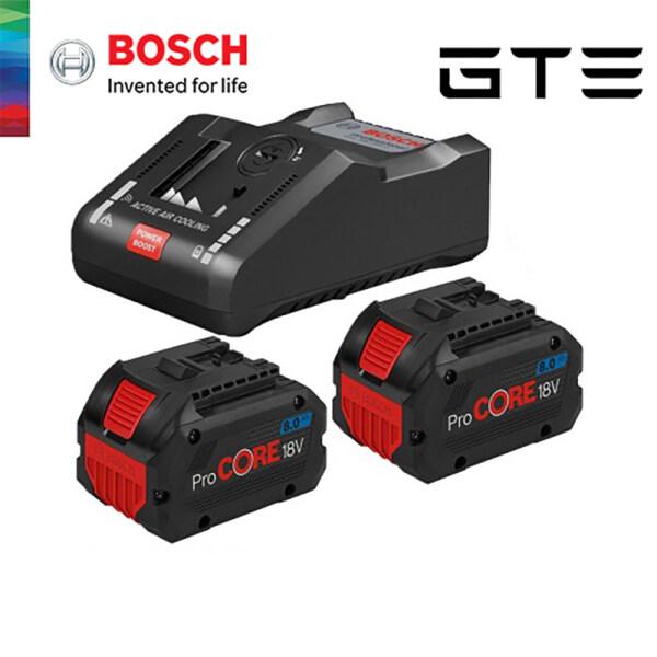 GTE BOSCH 2 x ProCORE18V 8.0Ah + GAL 18V-160 C + GCY 42 - 1600A016GR - Fulfilled by GTE SHOP