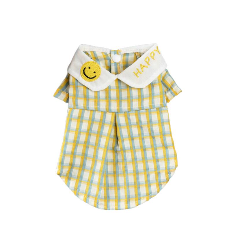 Pet T-Shirt, Cổ Bẻ In Kẻ Sọc, Trang Phục Cún Hai Chân Bằng Cotton Polyester Áo Cánh Cho Cuộc Sống Hàng Ngày