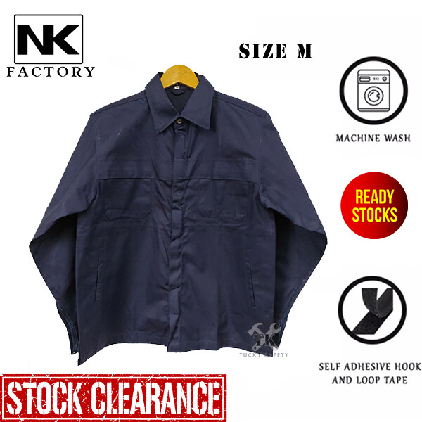 ( SIZE M ) NK EXCLUSIVE WORKING JACKET / HEAVY DUTY MEN WORKING JACKET / BAJU KERJA KAIN TEBAL LELAKI