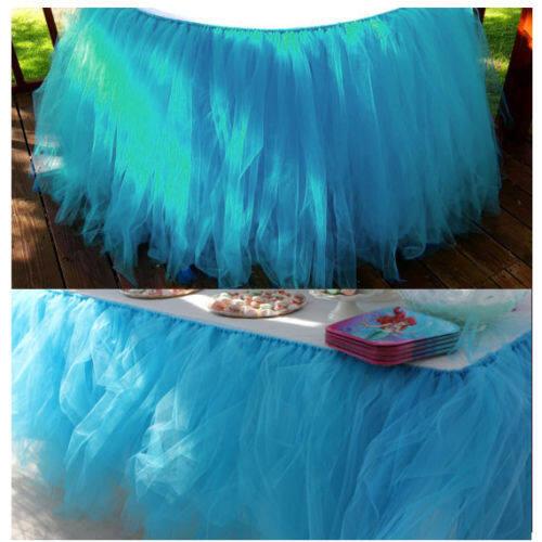 Sarung Kursi Dekorasi Kamar Modern Tulle Meja Kursi Rok Penutup untuk Pesta Ulang Tahun Pernikahan Baby Beberapa Pilihan Warna