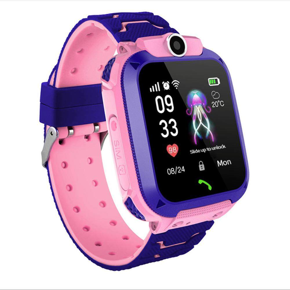 ICE Q12B Childrens Smart Watch Android Insert Card 2G Waterproof Remote Positioning GPS Locator Camera Call Anti-lost Smart Wristband for Kids Malaysia