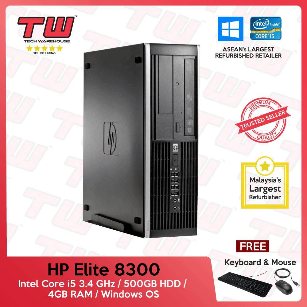 Hp Elite 8300 Core I5 3rd Generation / 4gb Ram / 500gb Hdd / Windows Os (sff) Desktop Pc / 3 Months Warranty (factory Refurbished) By Tech Warehouse.