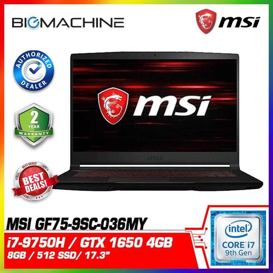 MSI GF75 Thin 9SC-036MY (i7-9750H/8G/512GSSD/GTX1650-4GD5/17.3 FHD/W10/2YR) Malaysia