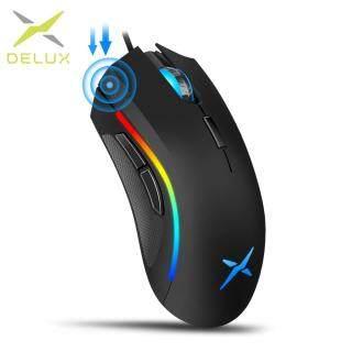 Delux M625 A3050 Đèn Nền RGB Chuột Chơi Game 4000 DPI 7 Nút Bấm Có Thể Lập Trình USB Có Dây Chuột cho Game Thủ cho MÁY TÍNH laptop thumbnail