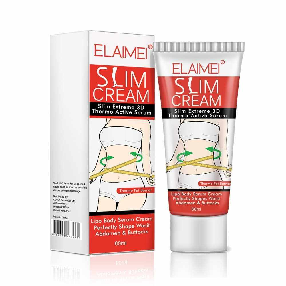 ELAIMEI Magic Weight Loss Sliming Cream Professional Navel Arm Leg Fat Burnning Beer Belly Remover Create Charming Body Curve No Need Exercise (White)