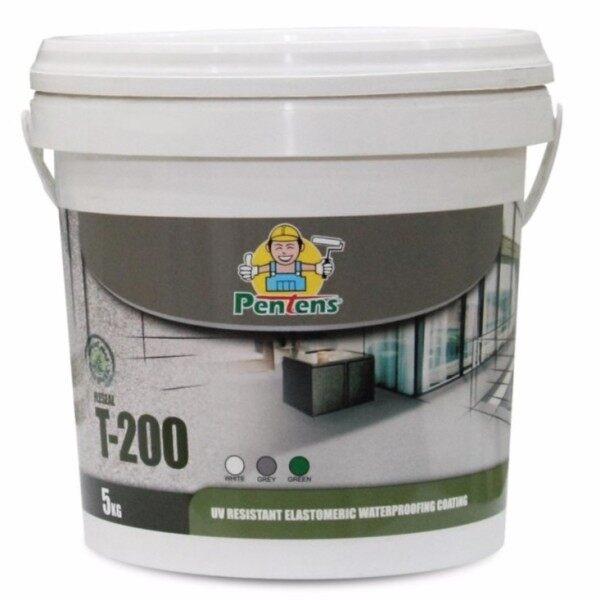 PENTENS T-200 4KG UV Resistant Elastomeric Waterproofing Coating T200 ( Grey)