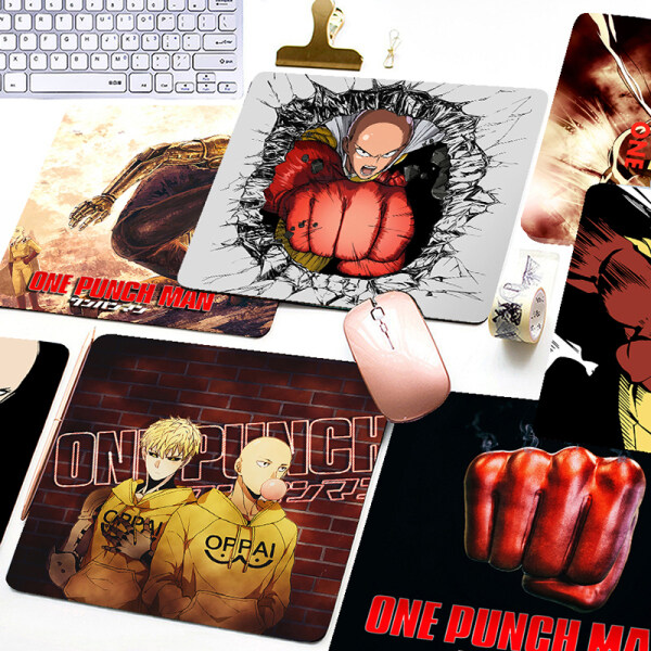 [Mouse Pad] Anime One Punch Man Printed Mouse Pad Game Office Home Multimedia Computer Keyboard Non-slip Mouse Pad Malaysia