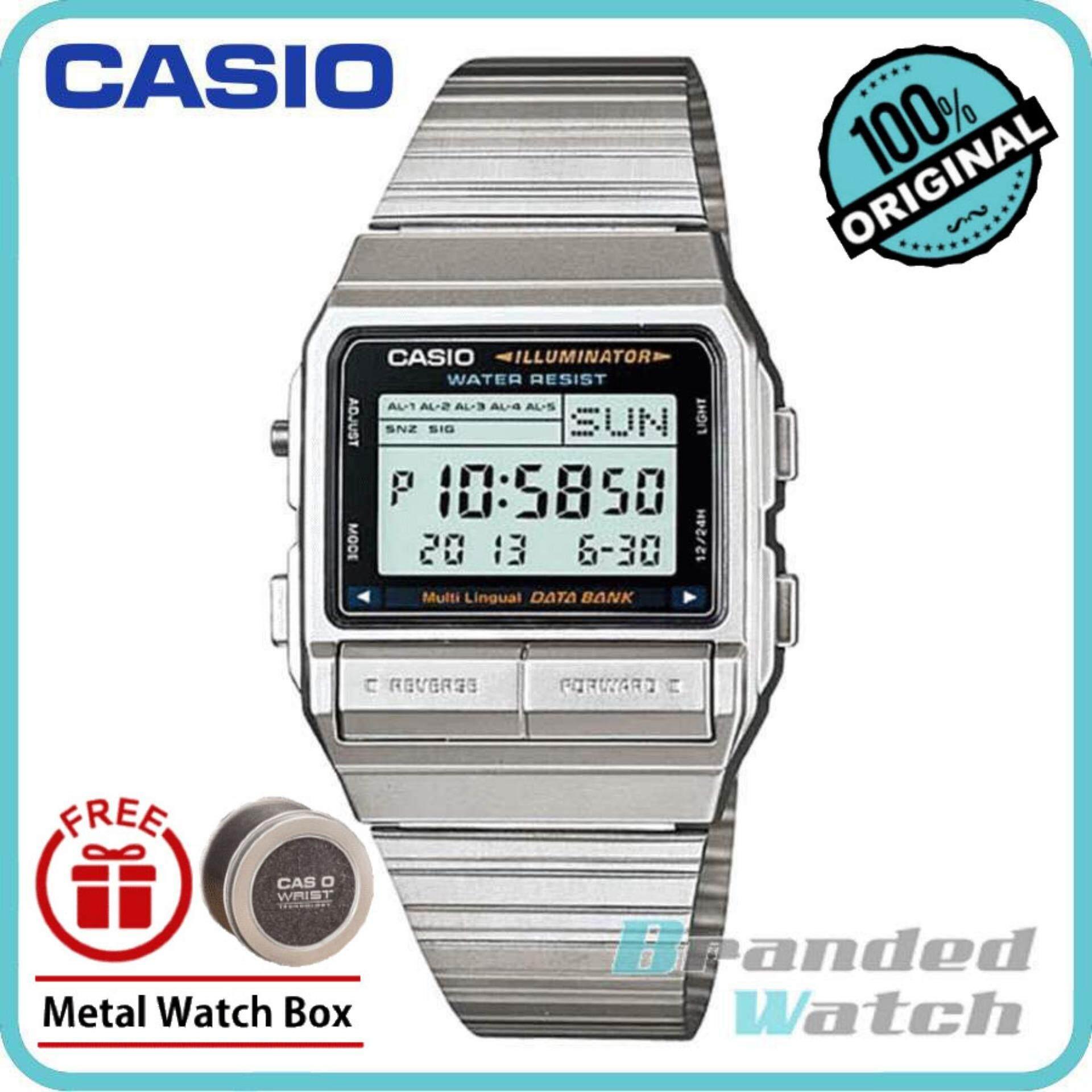 Casio DB-380-1DF Unisex Databank Digital Steel Watch DB-380-1D Malaysia