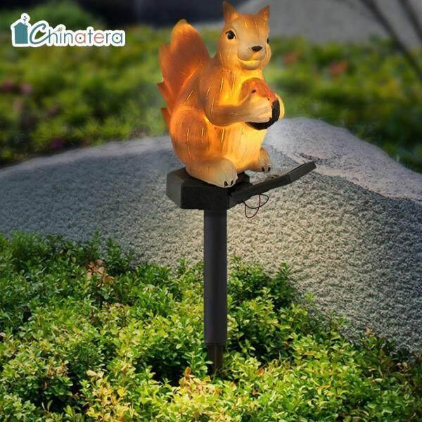 [Chinatera] Đèn LED Năng Lượng Mặt Trời, Đèn Bãi Cỏ Hình Sóc Dễ Thương Đèn Cảnh Quan Sân Vườn Ngoài Trời Không Thấm Nước