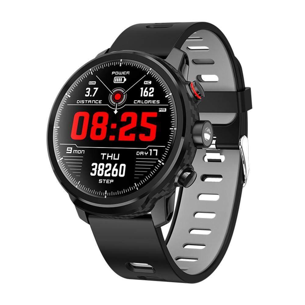 Niceeshop L5 สมาร์ทวอท์ช, Ip68 สมาร์ทริสท์แบนด์สำหรับออกกำลังกาย Tracker, Heart Rate & ความดันโลหิตการตรวจสอบกลางแจ้งนาฬิกากีฬาอัจฉริยะสำหรับ Android และ Ios By Nicee Shop.