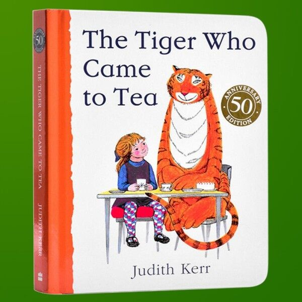 Spot new books Tigers come to drink afternoon tea English original picture book The Tiger Who Came t