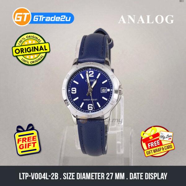 Casio Standard Women LTP-V004L-2B LTPV004L-2B Analog Watch Dark Blue Leather Band jam tangan wanita . casio watch . casio watch women Malaysia