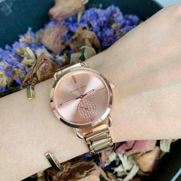 Free Shipping Ladies_Michael_Kors_MK_Womens Gold & Silver Good Looking Watch Full Set Ready Stock Malaysia