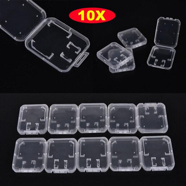 Bảng giá TI9P 10PCS Cầm tay Tiêu chuẩn Sạch Nhựa Thẻ SD / TF SDHC Hộp đựng thẻ nhớ Hộp lưu trữ Trong suốt Phong Vũ