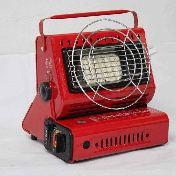 Outdoor Heater Cooker Gas Heater for Travelling Camping Hiking Picnic Equipment Used Portable Tent Stove Heater Red