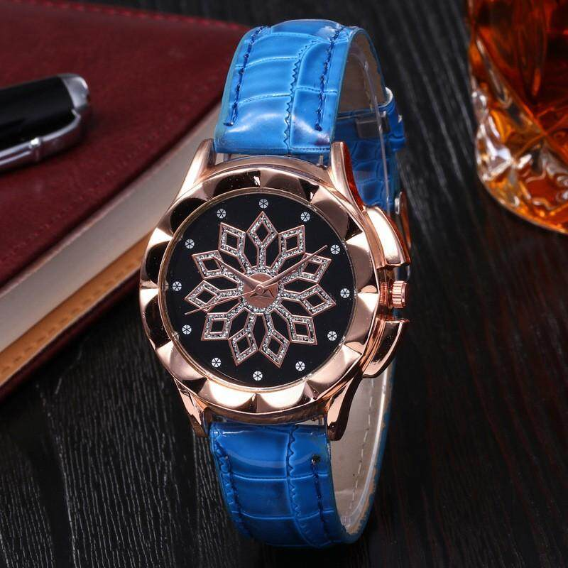 Time To Run Casual And Fashion Petals Case Leather Strap Case Quartz Watch For Women Malaysia