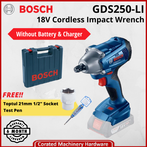 [CORATED] Bosch GDS 250-LI 18Volt Cordless Impact Wrench Without Battery & Charger (6 Month Warranty) GDS250-LI