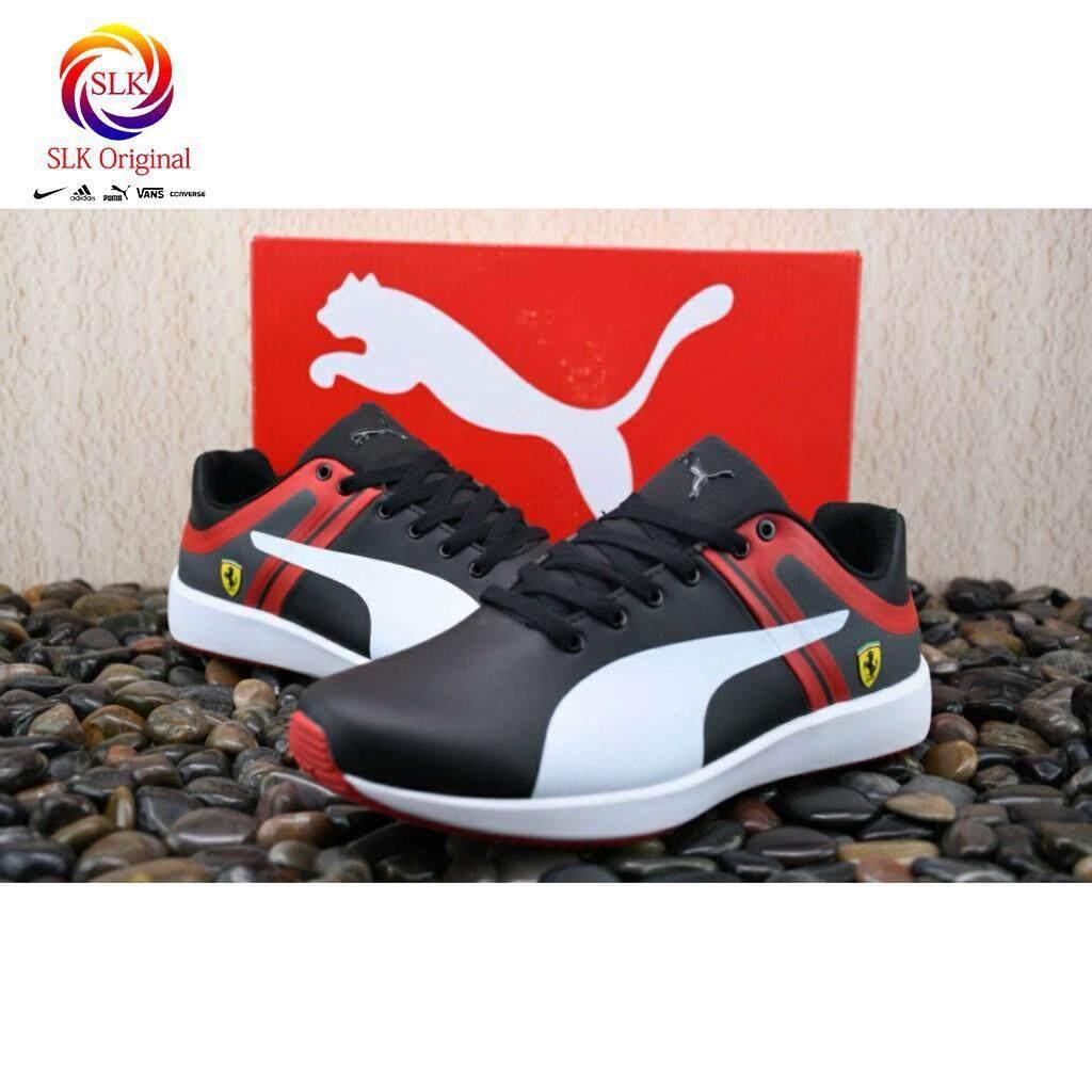 SLK Original ★ new arrive original puma Ferrari black white leather men sport skateboard shoe
