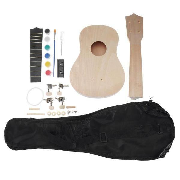 21 Ukelele Wooden Guitar DIY Kit Hawaii Ukulele Handwork Beginner with Bag - Malaysia