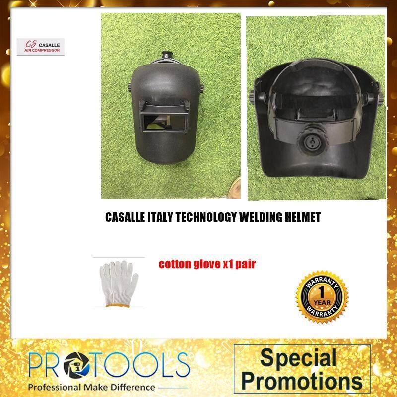 (PROTOOLS)WELDING Head Shield Welder Mask Welding Helmet Protective Adjustable Black Sparkproof