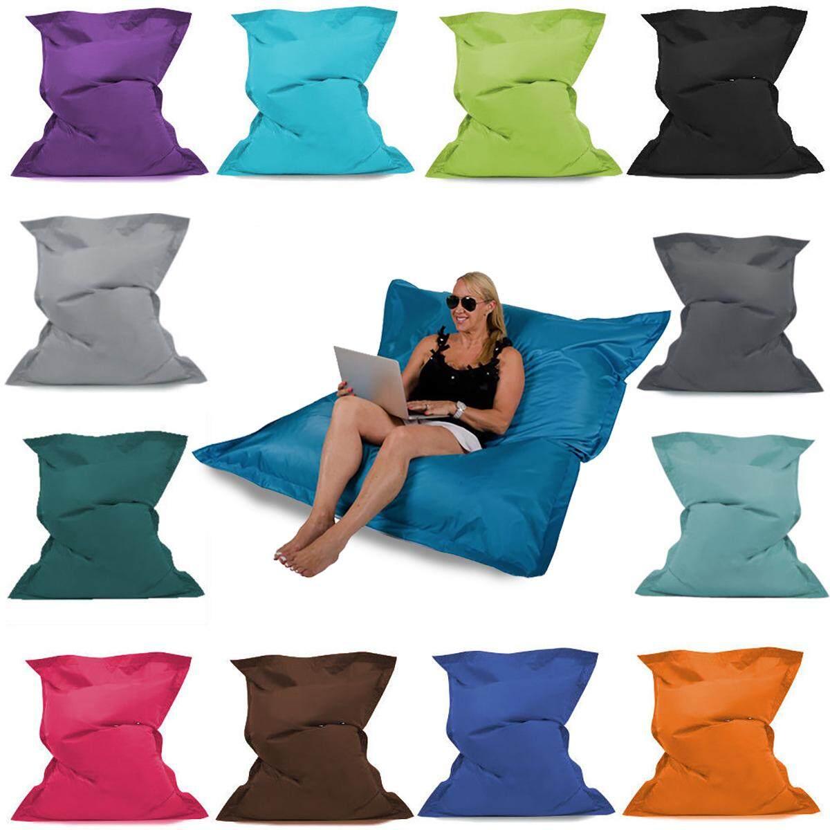 Giant Bean Bag Floor Cushion - 3 Sizes Indoor/outdoor Waterproof Garden Beanbag By Glimmer.