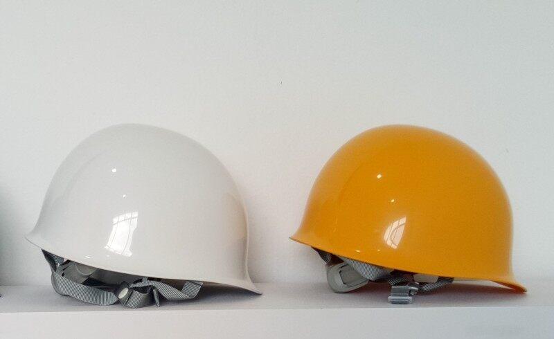 Tanizawa Safety Helmet - 148 ABS White/Yellow