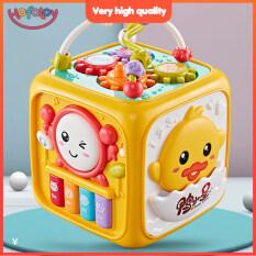[Hofatoy] Bé Hoạt Động Cube, Đồ Chơi Cho Trẻ Tập Đi-Đèn Piano Đa Năng 6 Trong 1 Đồ Chơi Đính Cườm Giáo Dục Sớm