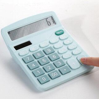 LouisaLu Cửa Hàng Máy Tính, 12 Chữ Số Máy Tính Để Bàn Cơ Bản Calculato Dual-Điện, Với Màn Hình LCD Lớn thumbnail